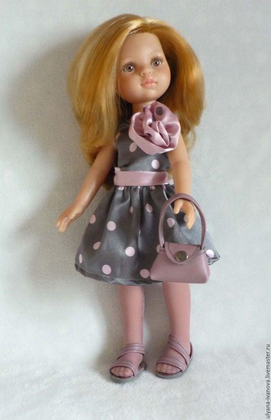 Одежда для кукол ручной работы. Ярмарка Мастеров - ручная работа. Купить Комплект для Paola Reina - платье, колготки, сумочка и сандалии. Handmade.
