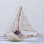 """Для дома и интерьера ручной работы. Ярмарка Мастеров - ручная работа Кораблик из морских коряг """"Лампа Алладина"""". Handmade."""