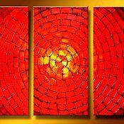 Картины и панно ручной работы. Ярмарка Мастеров - ручная работа абстракция Огненно-красный.  Красный цвет это символ любви, страсти.. Handmade.