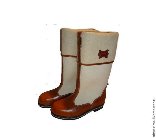 Обувь ручной работы. Ярмарка Мастеров - ручная работа. Купить Бурки генеральские. Handmade. Белый, женщине, микропора