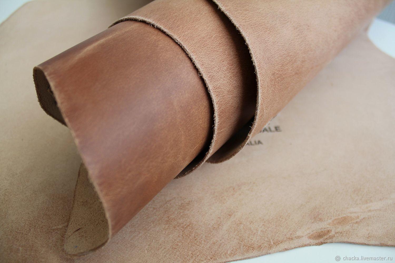 Шитье ручной работы. Ярмарка Мастеров - ручная работа. Купить Крейзи Хорс растишка Натуральный 1.4-1.6мм. Handmade.