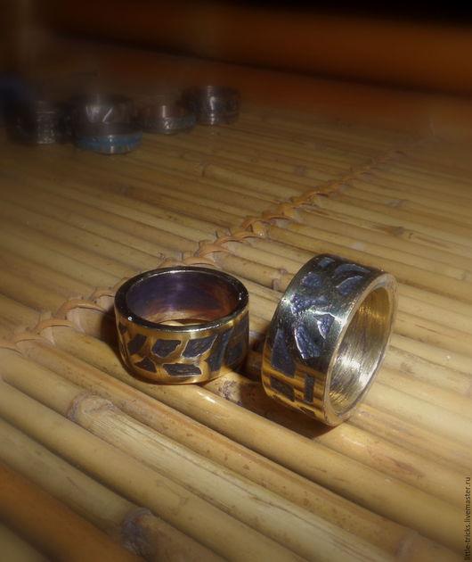 """Кольца ручной работы. Ярмарка Мастеров - ручная работа. Купить Кольцо латунное """"Лабиринт"""". Handmade. Золотой, уникальное украшение, латунь"""