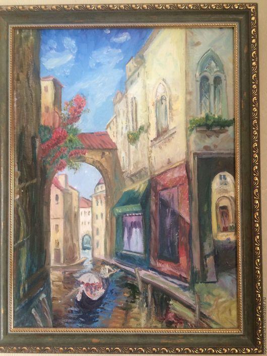 Город ручной работы. Ярмарка Мастеров - ручная работа. Купить Венеция.Городской пейзаж.. Handmade. Комбинированный, венеция, холст на подрамнике