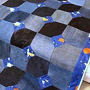 Для дома и интерьера handmade. Livemaster - original item Bedspreads: Denim bedspread Space. Handmade.