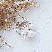 Украшения handmade. Livemaster - original item Ring with a handful of natural pearls in silver. Handmade.