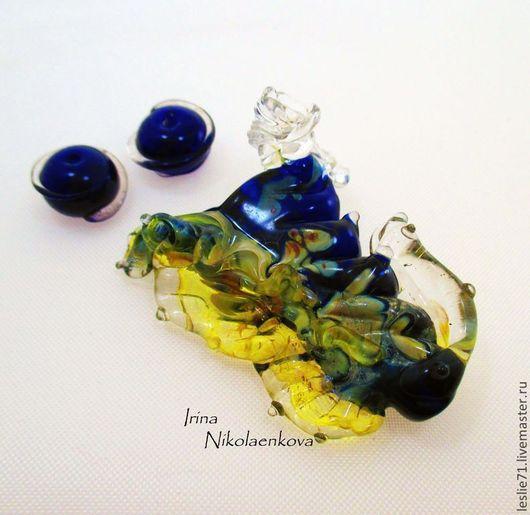 """Для украшений ручной работы. Ярмарка Мастеров - ручная работа. Купить Сет  """"Синий хрусталь"""". Handmade. Тёмно-синий"""