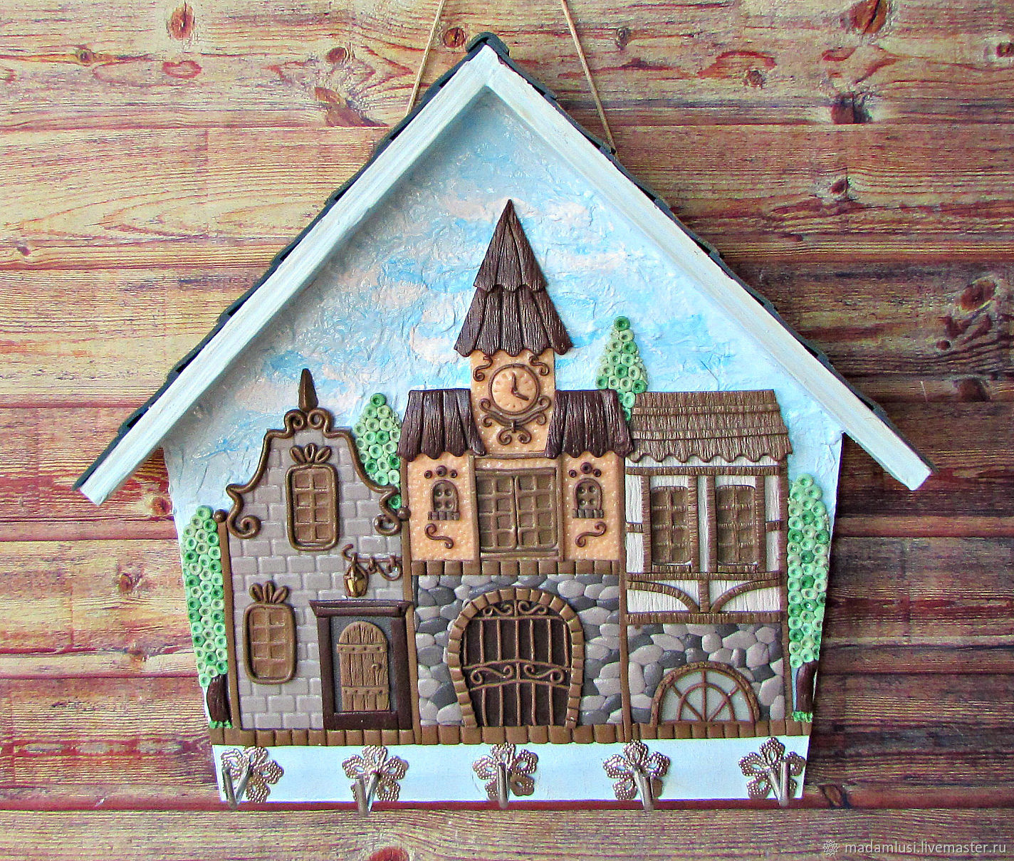 The Housekeeper Is South Of The City .The housekeeper wall.Decor with polymer clay, Housekeeper, Shuya,  Фото №1