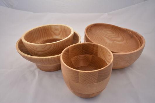 Тарелки ручной работы. Ярмарка Мастеров - ручная работа. Купить Посуда из дерева.материал ясень,бук.. Handmade. Посуда из дерева