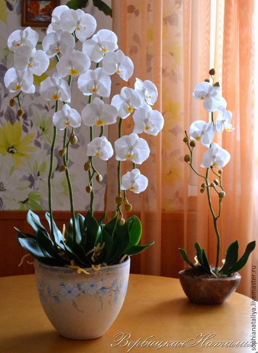 Цветы ручной работы. Ярмарка Мастеров - ручная работа. Купить Орхидея .Холодный фарфор. Handmade. Орхидеи, цветы для интерьера