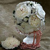 """Свадебный салон ручной работы. Ярмарка Мастеров - ручная работа """"Воздушный пломбир"""" - букет невесты и бутоньерка (на заказ для Даны). Handmade."""