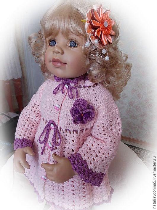 """Одежда для девочек, ручной работы. Ярмарка Мастеров - ручная работа. Купить Комплект для девочки вязаный крючком """"Фиалка"""". Handmade. Розовый"""