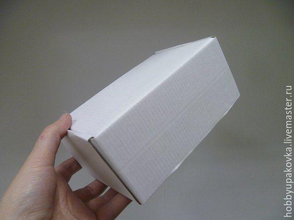 Кашпо ручной работы. Ярмарка Мастеров - ручная работа. Купить Коробка 17х11х7,5 см белый микрогофрокартон чемоданчик. Handmade.