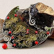 Украшения ручной работы. Ярмарка Мастеров - ручная работа Морозные ягоды. Колье. Handmade.