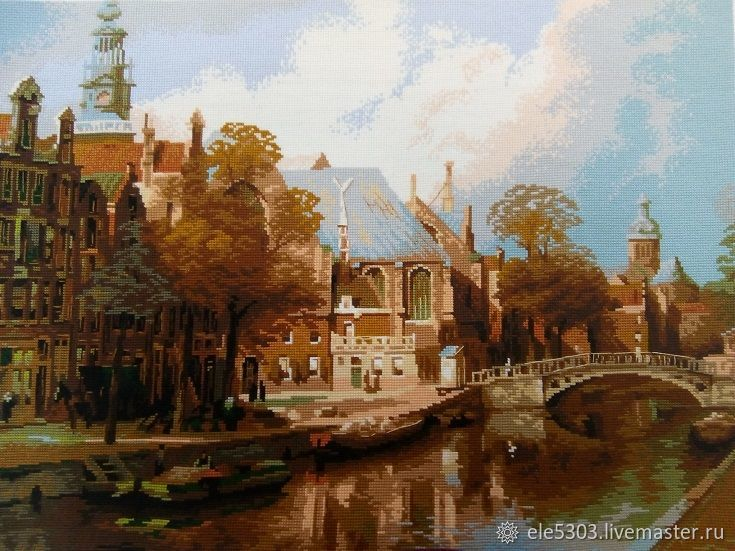 Embroidered painting ' Amsterdam», Pictures, St. Petersburg,  Фото №1