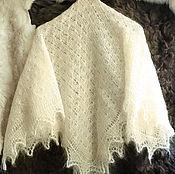 Аксессуары handmade. Livemaster - original item Shawl made of natural goat down beige. Handmade.