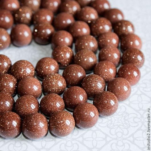 Для украшений ручной работы. Ярмарка Мастеров - ручная работа. Купить Авантюрин 10 мм шар бусины камни для украшений. Handmade.