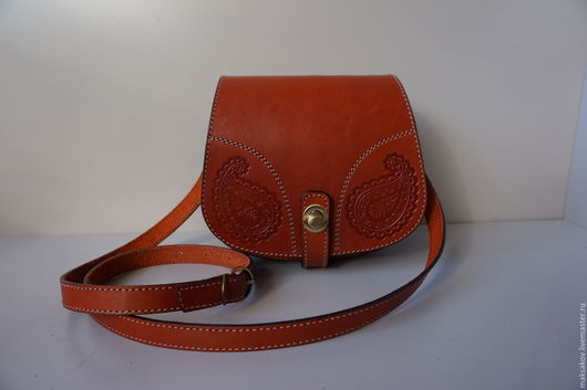 Женские сумки ручной работы. Ярмарка Мастеров - ручная работа. Купить Рыжая сумка из толстой кожи. Handmade. Рыжий