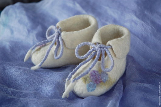 Для новорожденных, ручной работы. Ярмарка Мастеров - ручная работа. Купить Пинетки с цветами для новорожденного детские пинетки для девочки. Handmade.