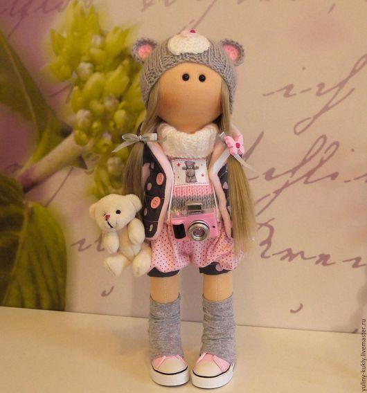 Коллекционные куклы ручной работы. Ярмарка Мастеров - ручная работа. Купить Текстильная куколка-малышка Миша. Handmade. Кукла текстильная