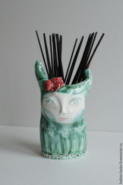 "ваза-стаканчик ""Прекрасная Зеленая"""