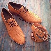 Ботинки ручной работы. Ярмарка Мастеров - ручная работа Мужские ботинки из натуральной кожи питона. Handmade.