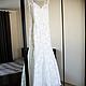Кружевное свадебное платье с открытой спиной и шлейфом. Wedding Style Studio. WedStyleStudio.