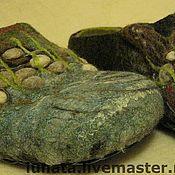"""Обувь ручной работы. Ярмарка Мастеров - ручная работа мужские валяные тапки """"Тихая заводь"""". Handmade."""