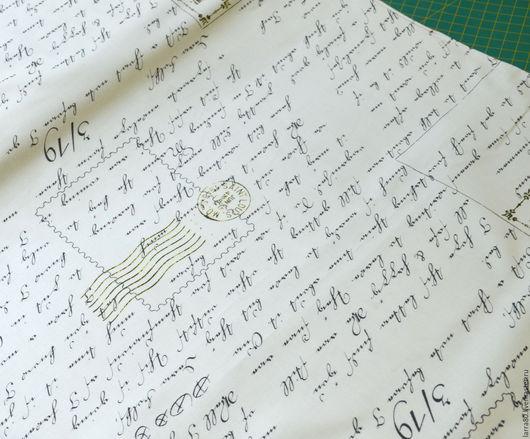 Шитье ручной работы. Ярмарка Мастеров - ручная работа. Купить Хлопок 24057-E письма США. Handmade. Ткань для кукол