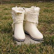 """Обувь ручной работы. Ярмарка Мастеров - ручная работа Валенки-сапожки """"Невеста"""". Handmade."""