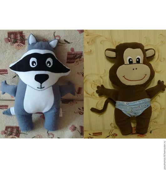 Игрушки животные, ручной работы. Ярмарка Мастеров - ручная работа. Купить Игрушка подушка енот или обезьяна (на выбор). Handmade.