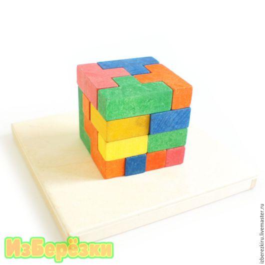 Развивающие игрушки ручной работы. Ярмарка Мастеров - ручная работа. Купить Тетрис деревянный. Средняя коробка. Handmade. Головоломка, деревянный