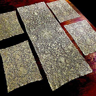 Винтаж ручной работы. Ярмарка Мастеров - ручная работа Комплект старинного кружева Cantu. Handmade.