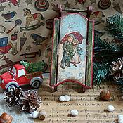 """Подарки к праздникам ручной работы. Ярмарка Мастеров - ручная работа """"Кай и Герда"""" - санки. Handmade."""