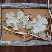 """Картины и панно ручной работы. Ярмарка Мастеров - ручная работа Коллаж картина цветочный """"Орхидея"""". Handmade."""