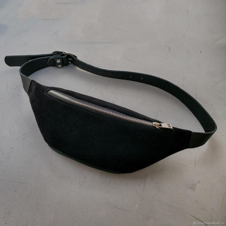 d3d63a271b77 Поясные сумки ручной работы. Ярмарка Мастеров - ручная работа. Купить Сумка  поясная S замша ...