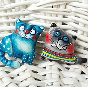 Куклы и игрушки ручной работы. Ярмарка Мастеров - ручная работа Брошки-котоброшки. Handmade.