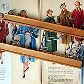 Винтаж handmade. Livemaster - original item Vintage coat rack with swivel hooks, USSR. Handmade.