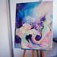 """Абстракция ручной работы. Ярмарка Мастеров - ручная работа. Купить Картина """"Аромат Цветения"""". Handmade. Картина, картина для интерьера"""