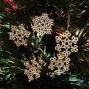 Для дома и интерьера handmade. Livemaster - original item Lace snowflakes on the tree. Handmade.