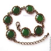 Украшения handmade. Livemaster - original item Goodwin bracelet (emerald green). Handmade.