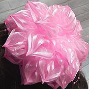 handmade. Livemaster - original item elastic hair band: Bow bows pink. Handmade.
