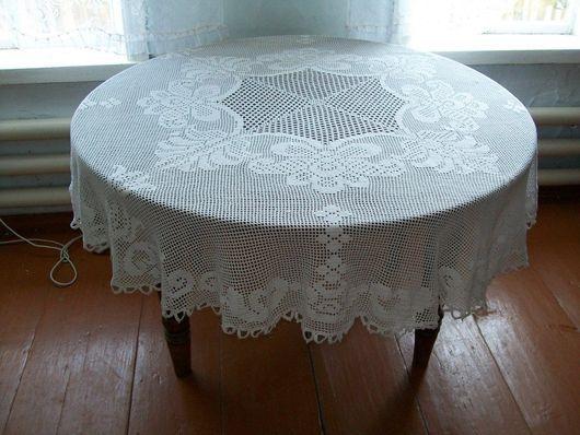 """Текстиль, ковры ручной работы. Ярмарка Мастеров - ручная работа. Купить Скатерть """"Приходите к нам на чай...""""180 см.. Handmade."""