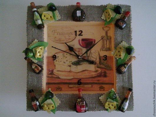 """Часы для дома ручной работы. Ярмарка Мастеров - ручная работа. Купить Часы настенные """"Завтрак по-милански"""". Handmade. Бежевый, металл"""