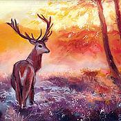 Картины и панно handmade. Livemaster - original item Forest deer. Handmade.