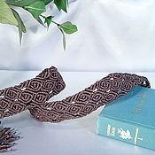 """Аксессуары ручной работы. Ярмарка Мастеров - ручная работа """"Чёрная роза"""", плетёный пояс, макраме. Handmade."""