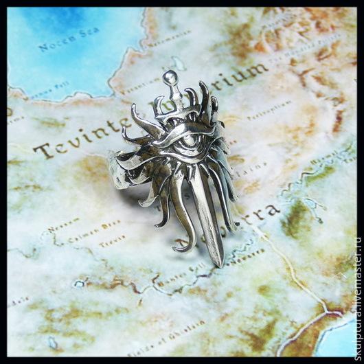 """Подарки для мужчин, ручной работы. Ярмарка Мастеров - ручная работа. Купить """"Кольцо Инквизитора"""" кольцо по игре Dragon Age - серебро. Handmade."""