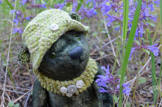"""Мишки Тедди ручной работы. Ярмарка Мастеров - ручная работа. Купить мишка Тедди """"Мечтатель"""". Handmade. Тёмно-зелёный, teddy"""