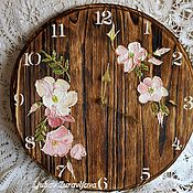 Для дома и интерьера ручной работы. Ярмарка Мастеров - ручная работа часы ,,Шиповник,,. Handmade.