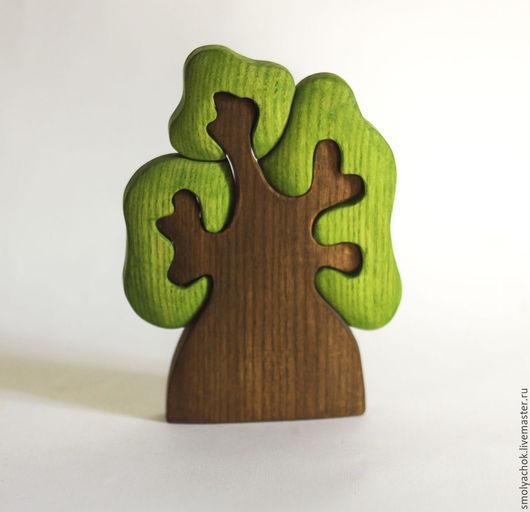 Развивающие игрушки ручной работы. Ярмарка Мастеров - ручная работа. Купить Дерево с тремя кронами, деревянная развивающая игрушка. Handmade.
