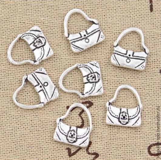 Для украшений ручной работы. Ярмарка Мастеров - ручная работа. Купить Подвеска Сумочка #1 (шармик). Handmade. Подвеска